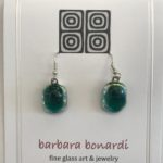 #14893 Hand designed glass, micro, on SS wires